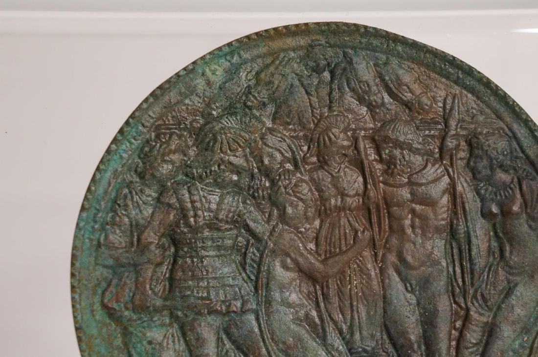 A GREEK /ROMAN BRONZE MIRROR - 5