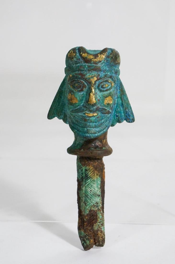ANCIENT ASSYRIAN BRONZE HEAD