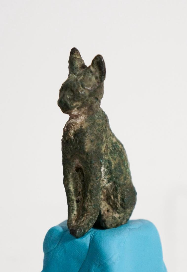 ANCIENT EGYPTIAN BRONZE CAT - 3