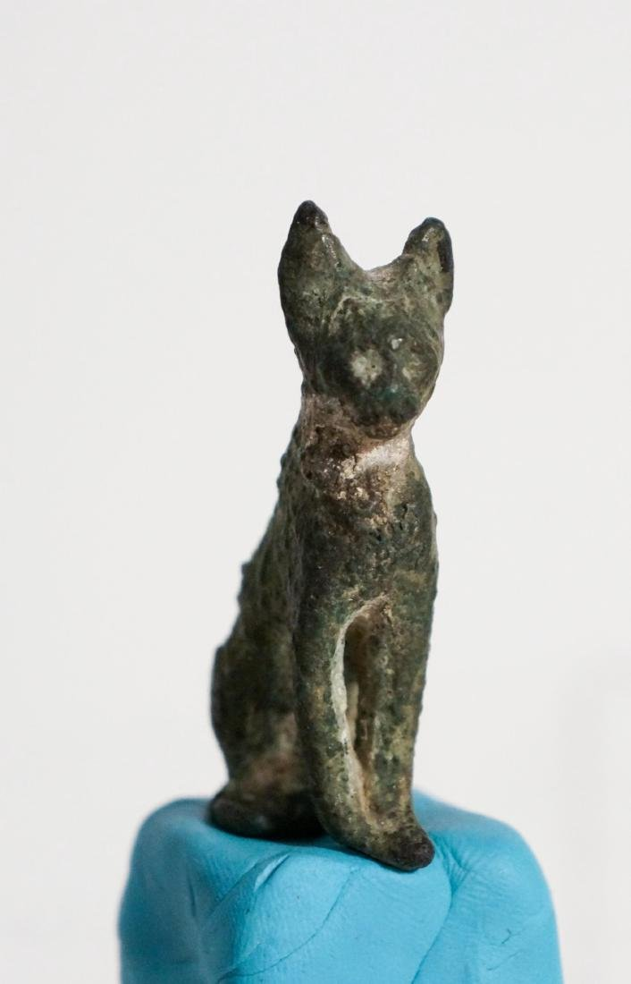 ANCIENT EGYPTIAN BRONZE CAT - 4