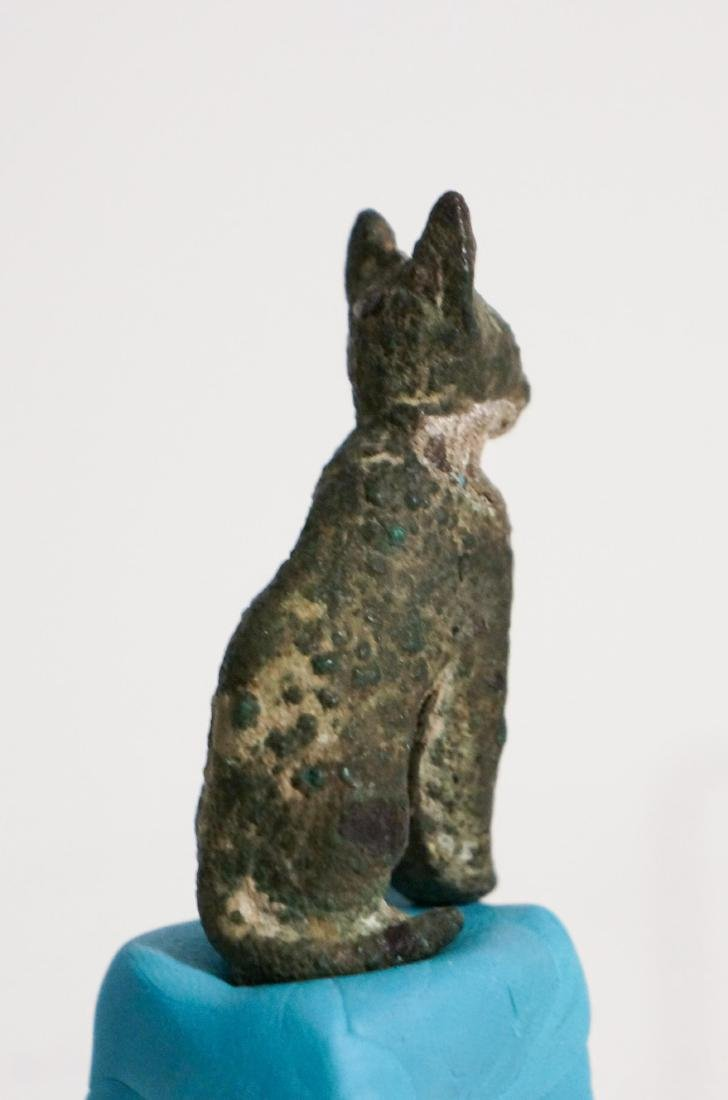 ANCIENT EGYPTIAN BRONZE CAT - 5
