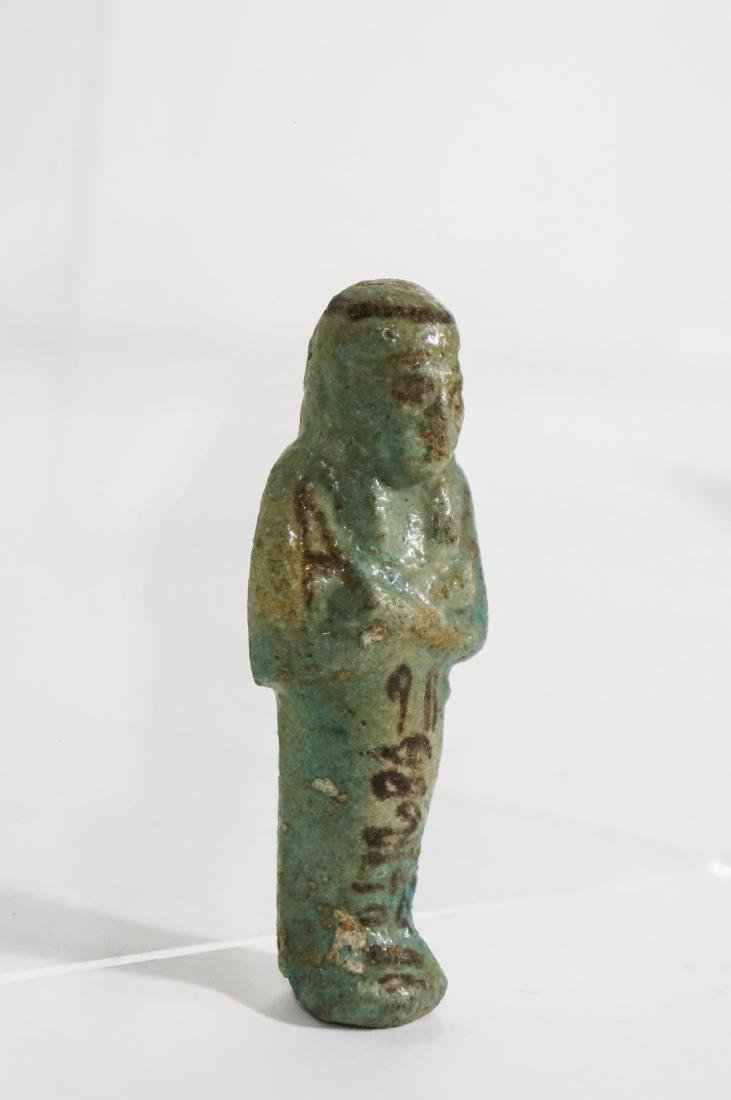 ANCIENT EGYPTIAN FAIENCE USHABTI OLD KINGDOM - 3