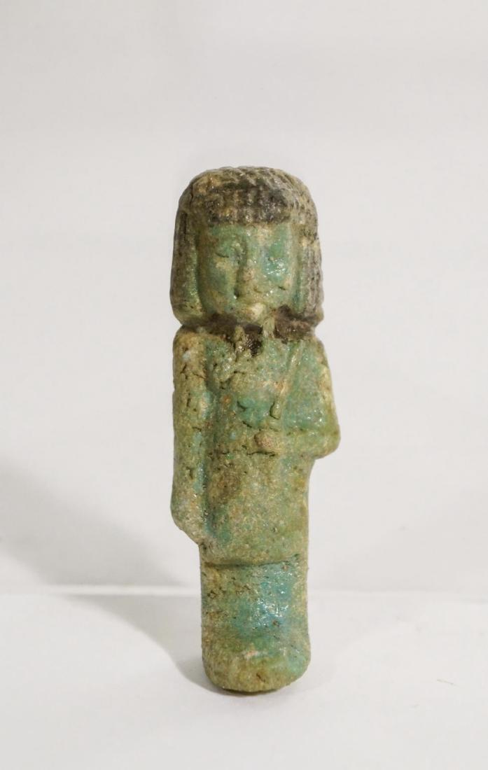 ANCIENT EGYPTIAN FAIENCE USHABTI OLD KINGDOM