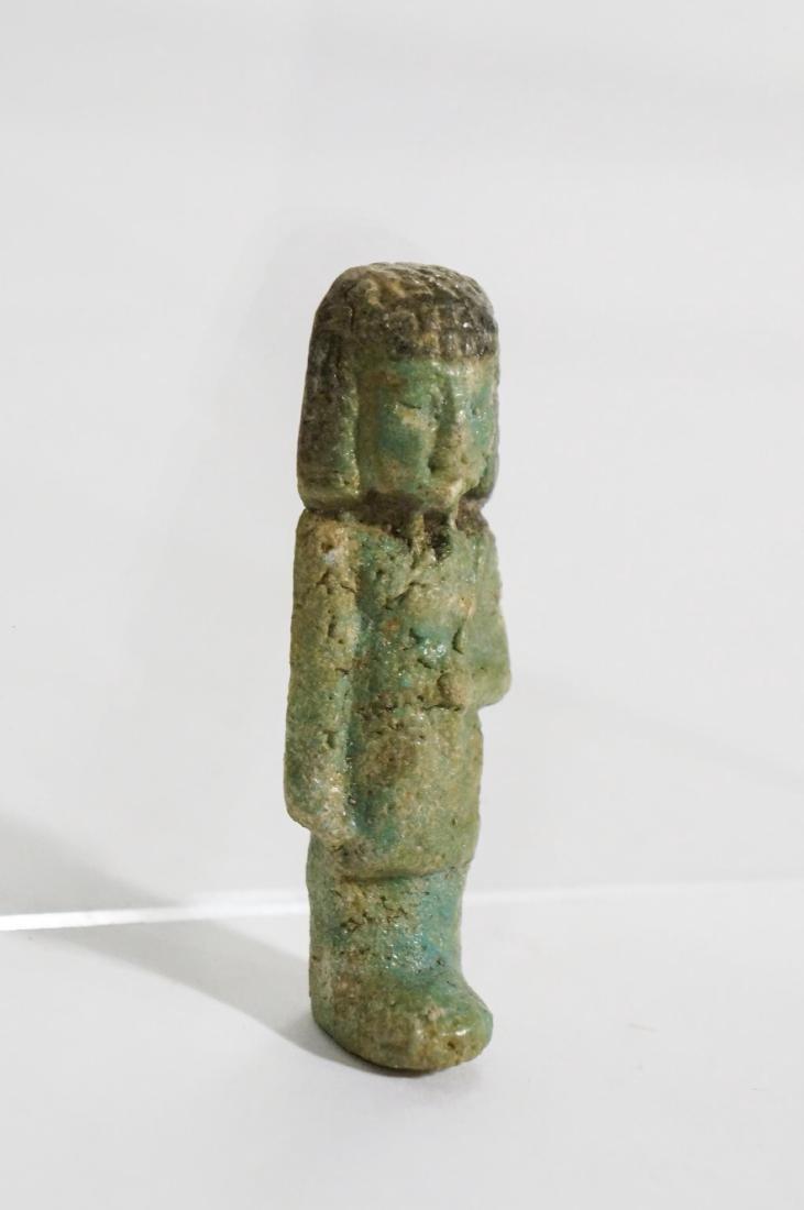 ANCIENT EGYPTIAN FAIENCE USHABTI OLD KINGDOM - 2