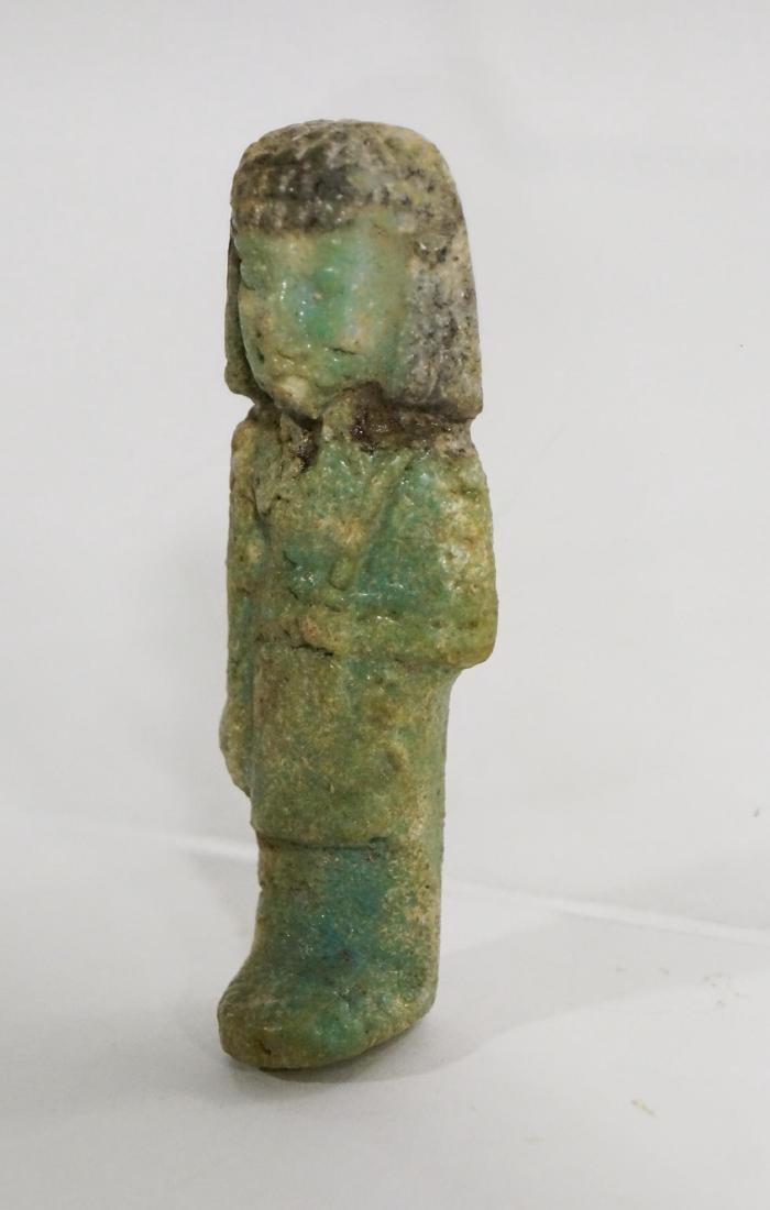 ANCIENT EGYPTIAN FAIENCE USHABTI OLD KINGDOM - 3