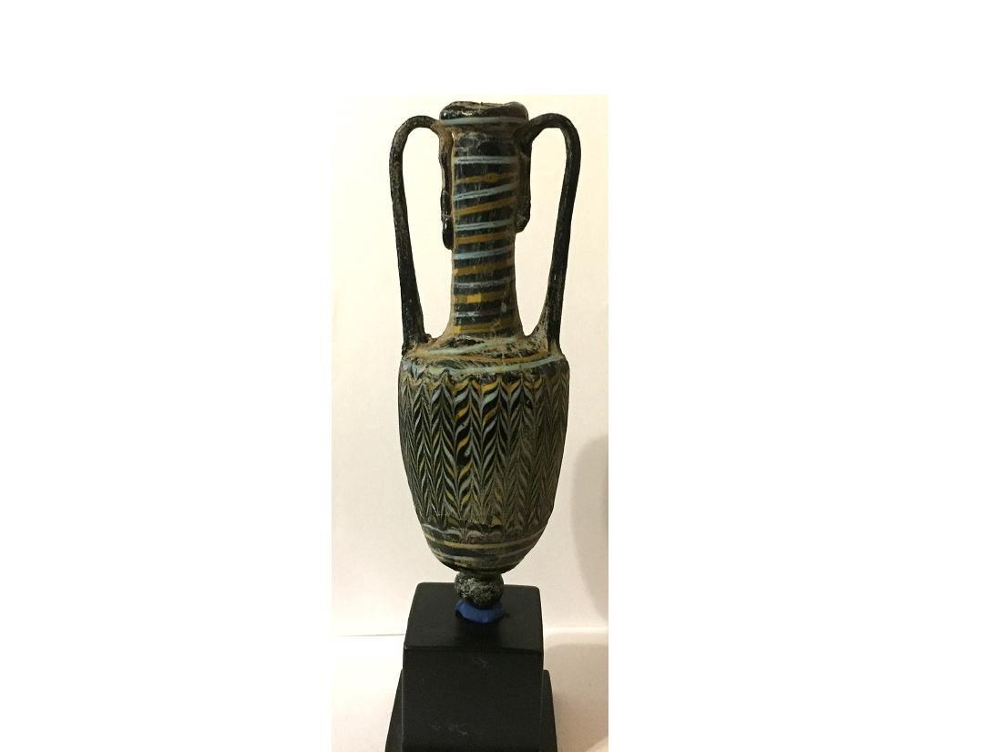 ROMAN GLASS CORE FORMED AMPHORA