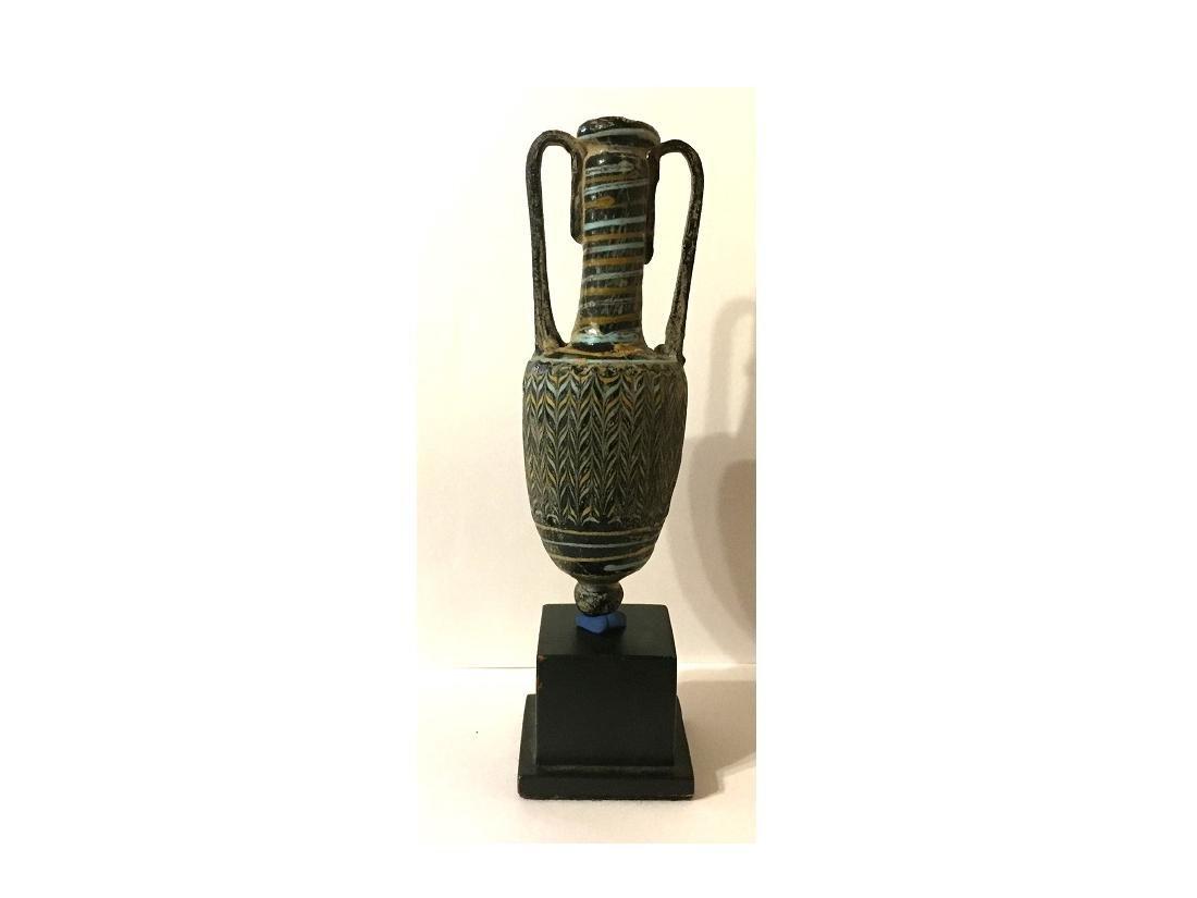 ROMAN GLASS CORE FORMED AMPHORA - 2