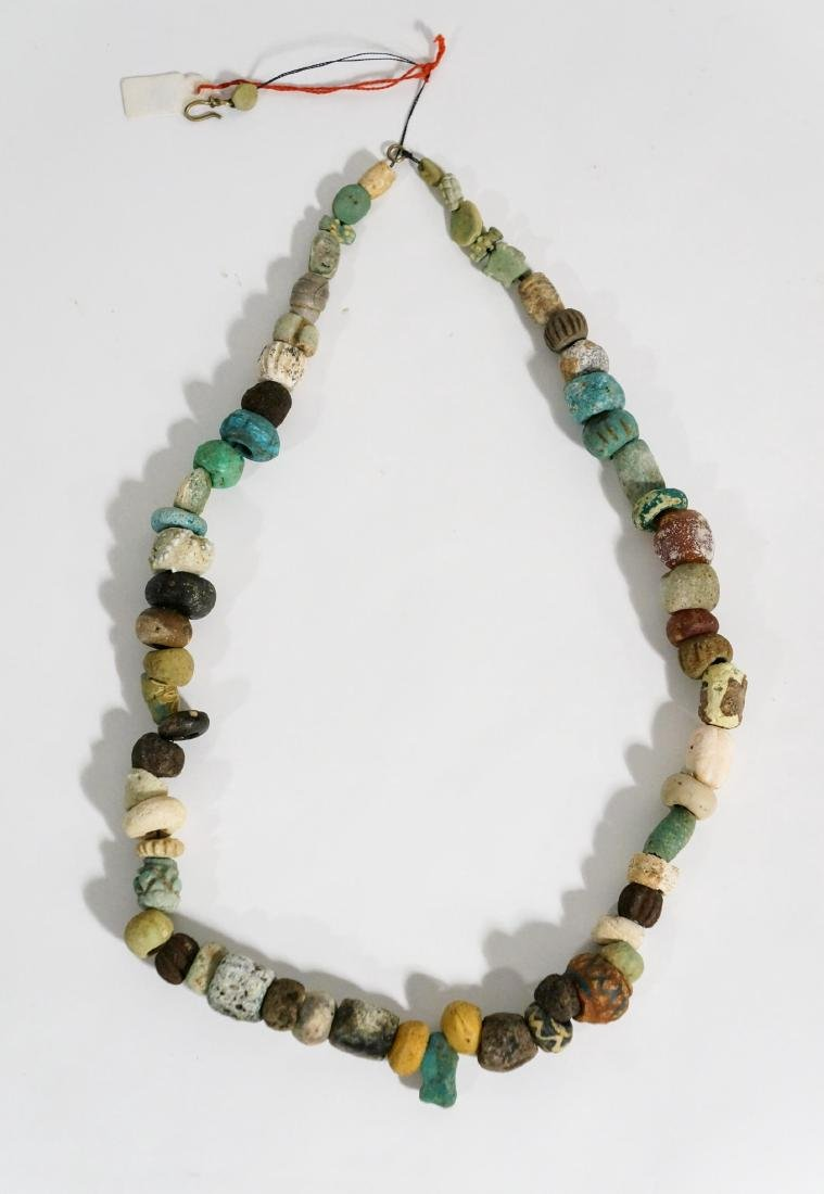 ANCIENT EGYPTIAN FAIENCE BEAD NECKLACE