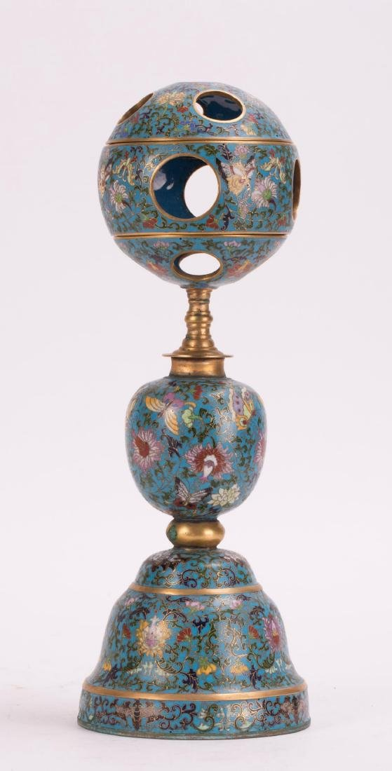 CHINESE CLOISONNE HAT STAND