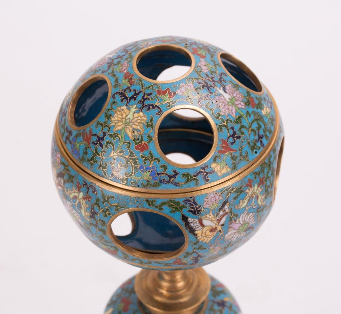 CHINESE CLOISONNE HAT STAND - 2