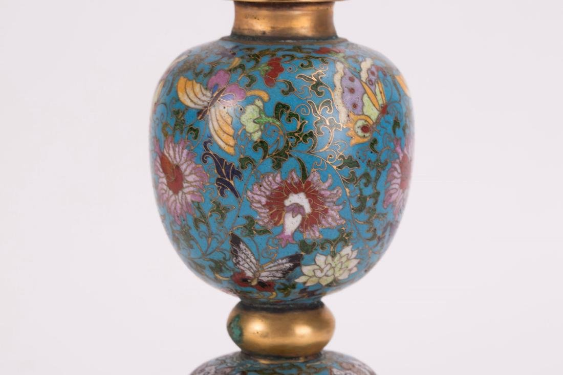 CHINESE CLOISONNE HAT STAND - 3