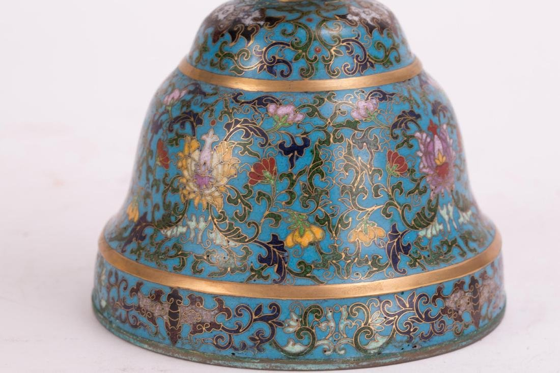 CHINESE CLOISONNE HAT STAND - 4