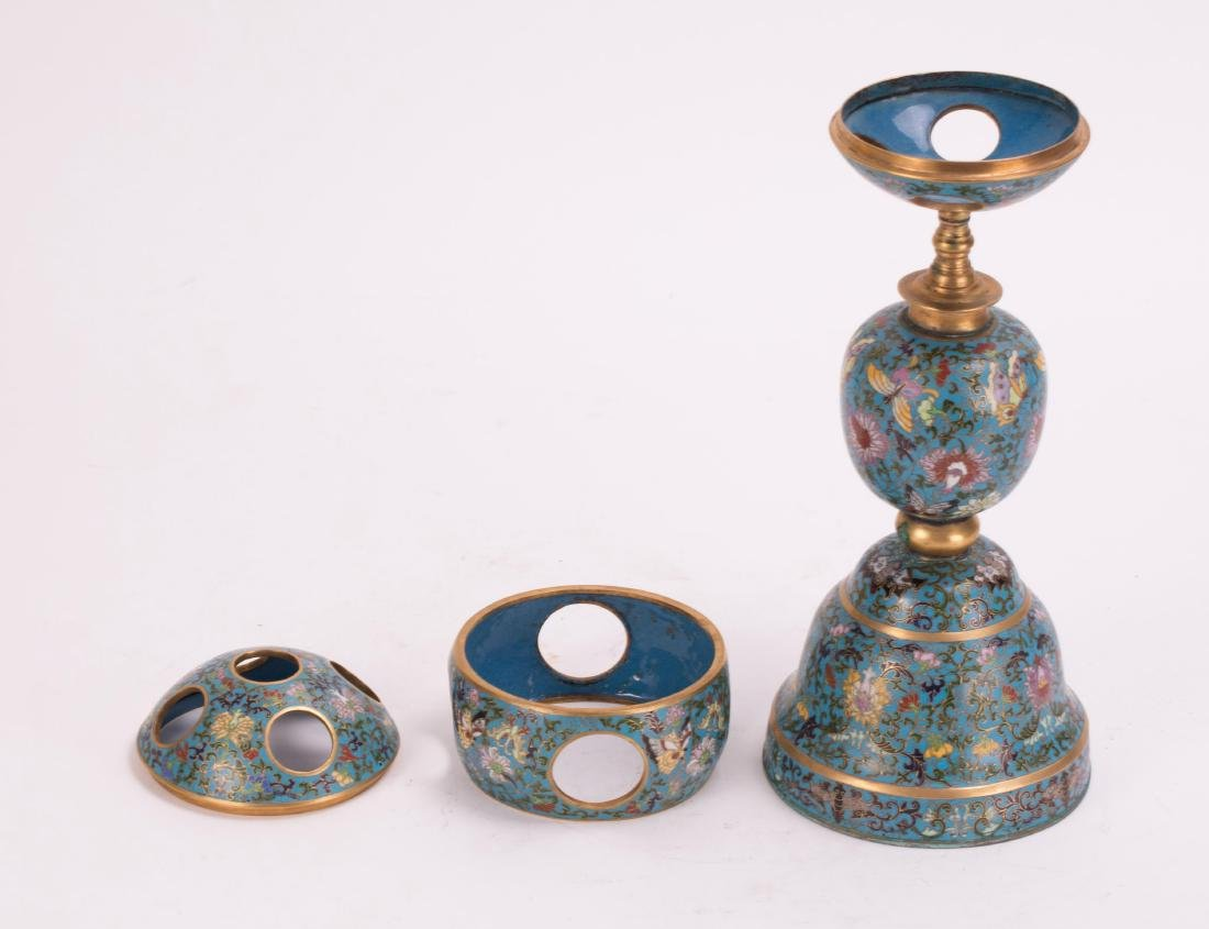 CHINESE CLOISONNE HAT STAND - 5