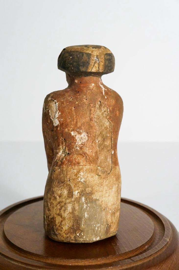 ANCIENT EGYPTIAN WOODEN KNEELING FIGURE - 5