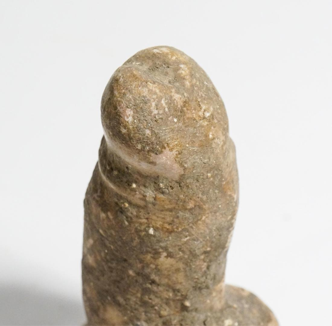 ANCIENT EGYPTIAN ROMAN LIMESTONE PHALLUS - 4