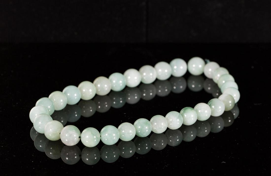 CHINESE JADEITE BEADS NECKLACE