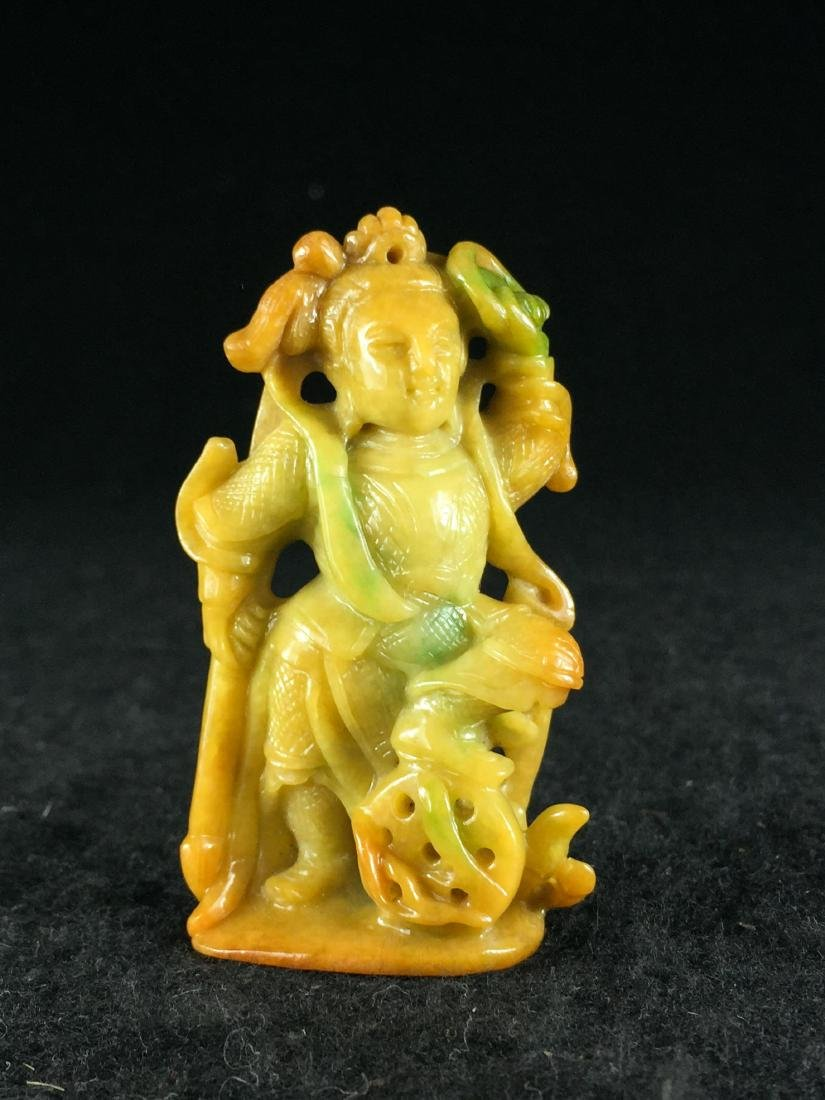 20TH C. CHINESE JADEITE CARVED FIGURE
