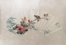 chinese fan painting, after li hechou