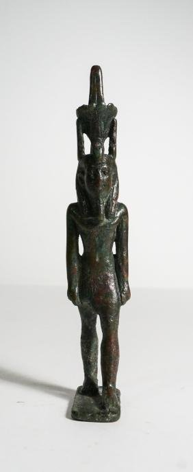 ANCIENT EGYPTIAN BRONZE FIGURE OF NEFERTEM