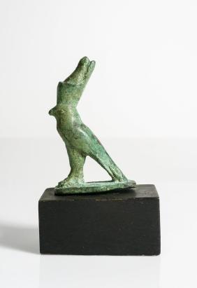 ANCIENT EGYPTIAN BRONZE FIGURE OF HORUS