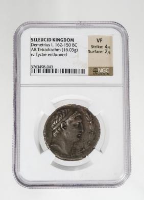 ANCIENT GREEK COIN SELEUKID KINGDOM. DEMETRIOS I