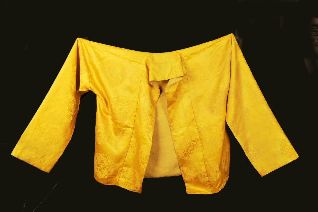 CHINESE QING DYNASTY YELLOW DRAGON JACKET