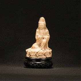 Chinese Soapstone Figure Of Guanyin