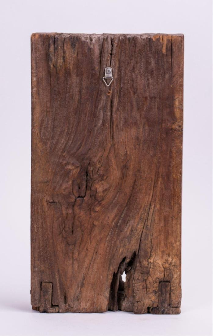 INDIAN CARVED WOODEN MANGALA GRAHA PANEL - 4