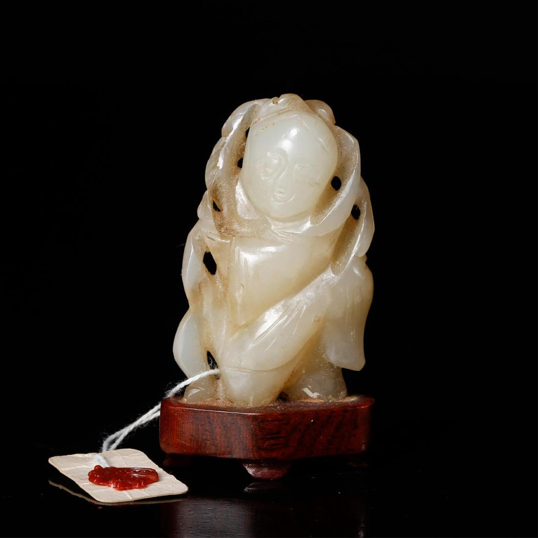 CHINESE JADE CARVED FIGURE OF BOY