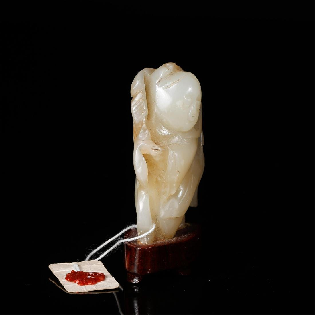 CHINESE JADE CARVED FIGURE OF BOY - 2