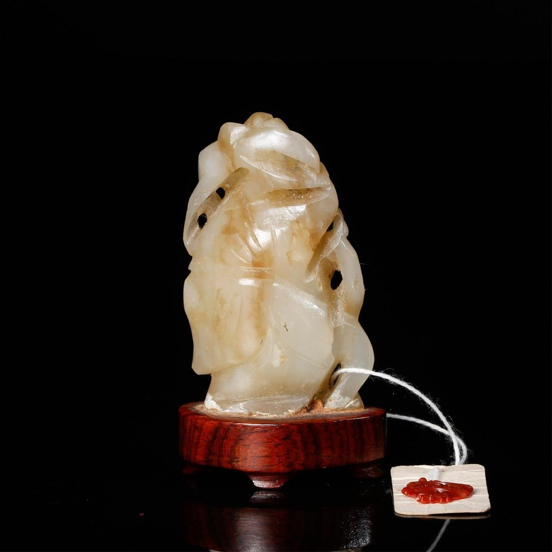 CHINESE JADE CARVED FIGURE OF BOY - 3