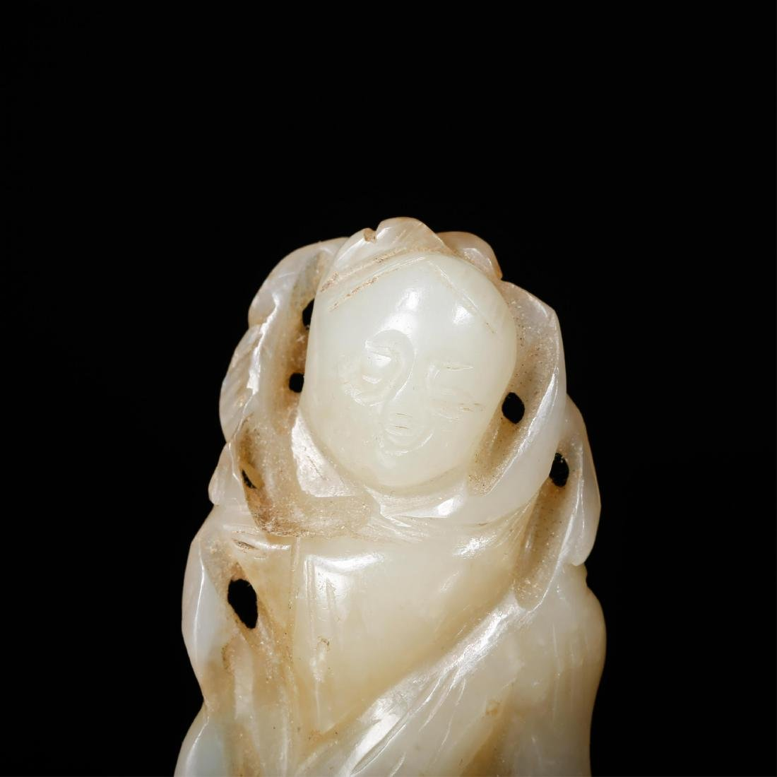 CHINESE JADE CARVED FIGURE OF BOY - 6
