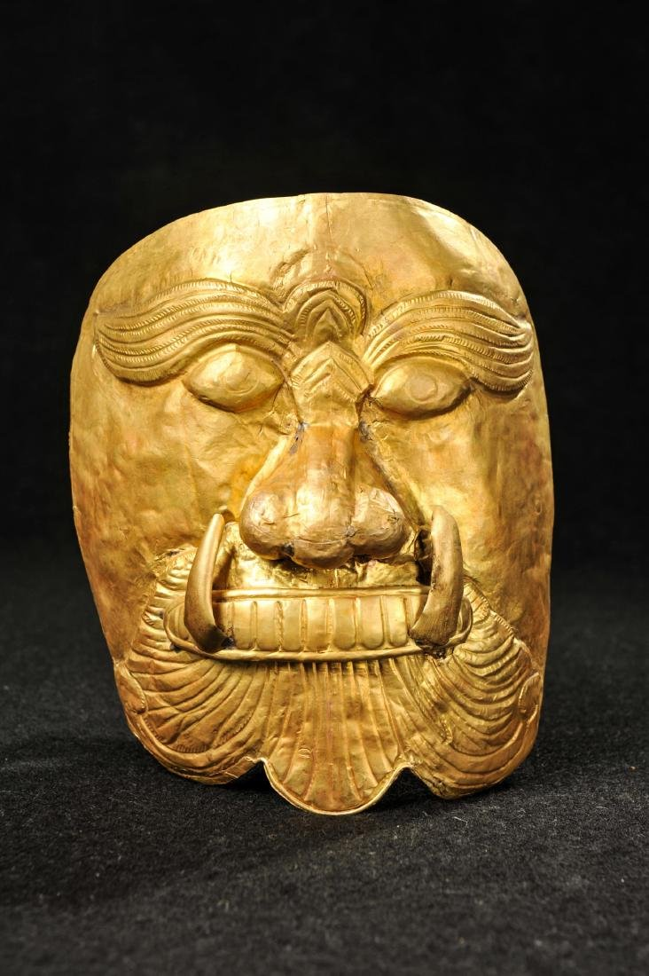 CHINESE LIAO DYNASTY GOLD BEAST MASK