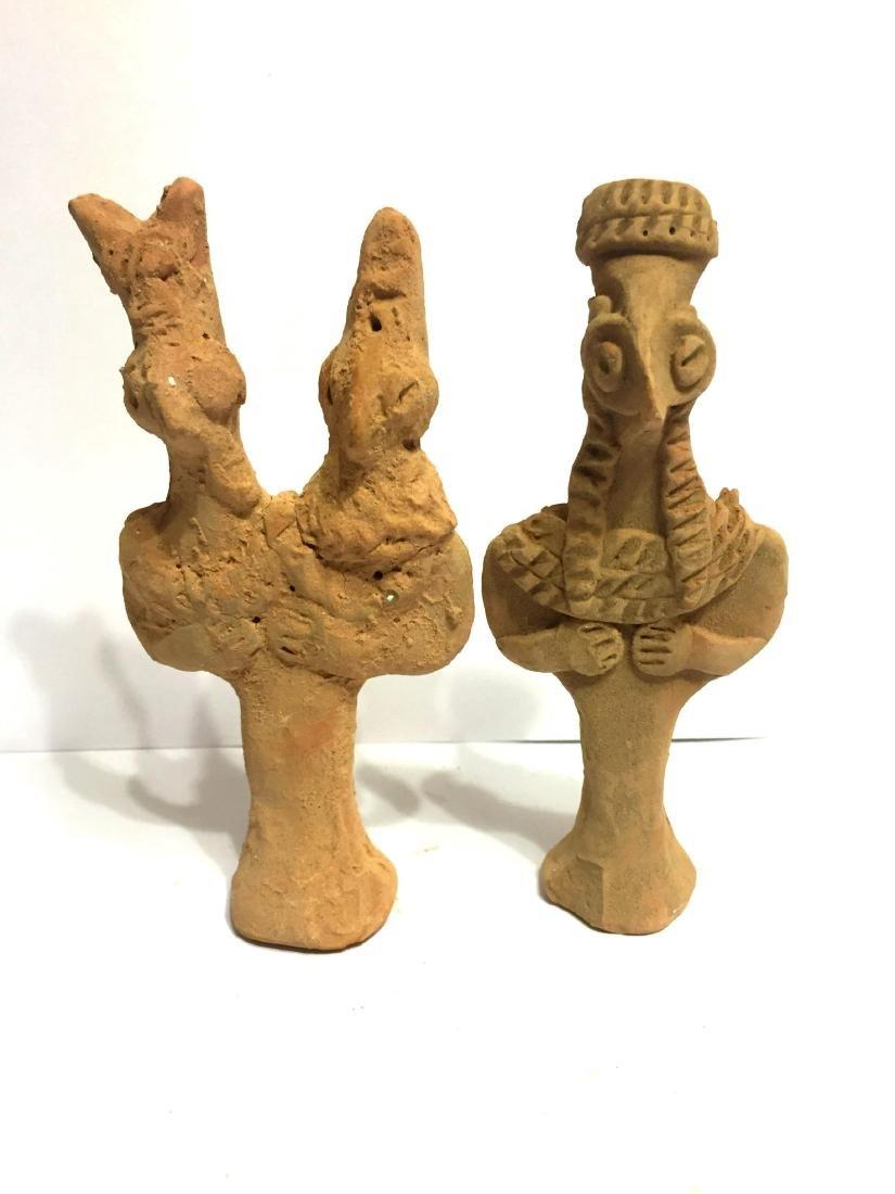 PAIR OF ASSYRIAN CLAYSTATUE IDOL