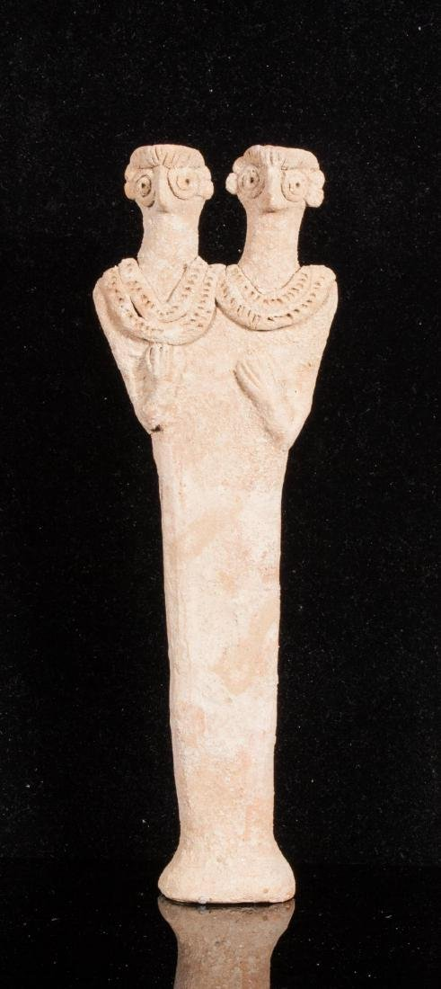 A SYRO-HITTITE TERRACOTTA IDOL