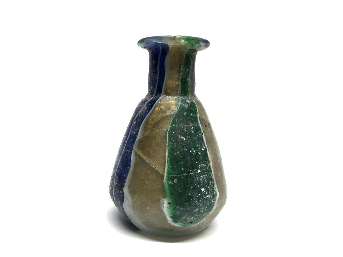 ROMAN GLASS GOLD-BAND MOSAIC BOTTLE