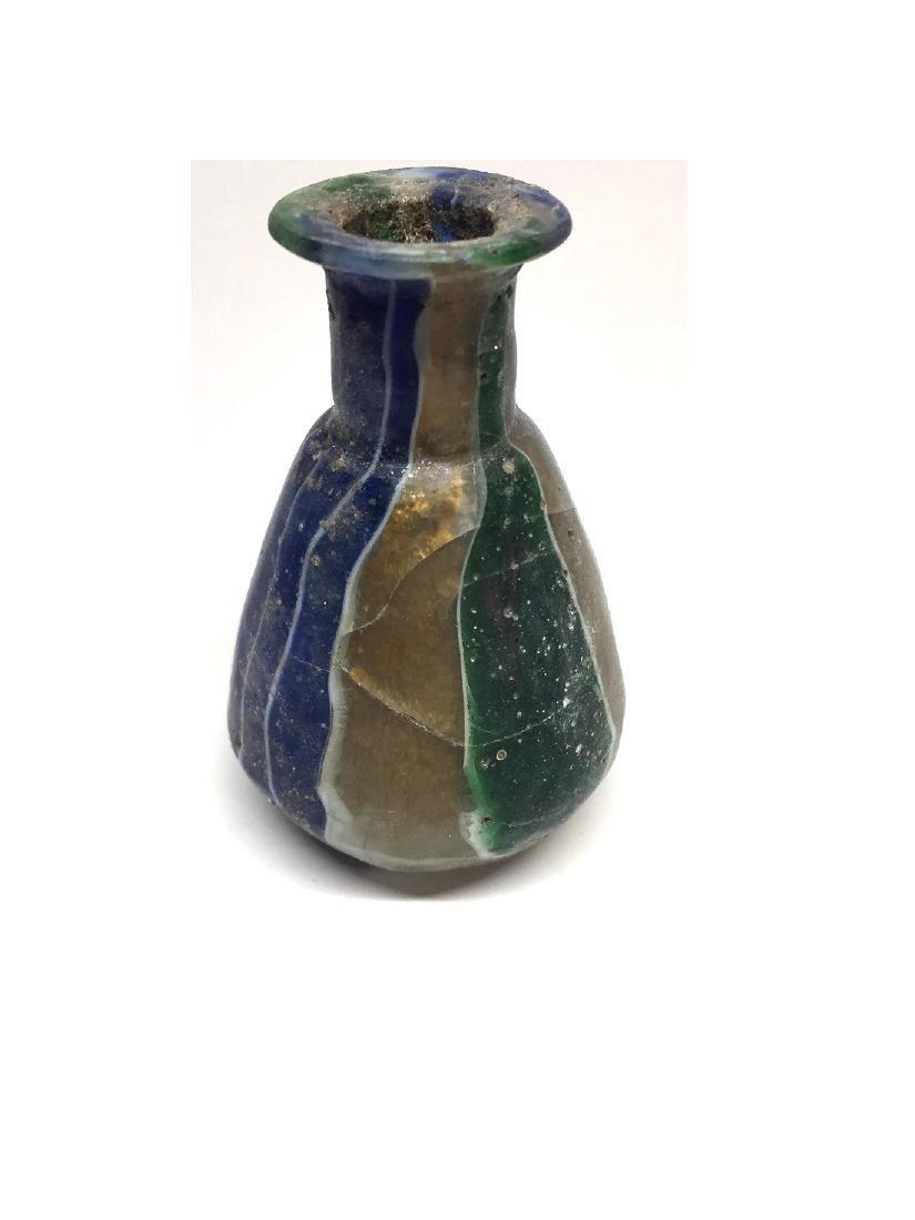 ROMAN GLASS GOLD-BAND MOSAIC BOTTLE - 4