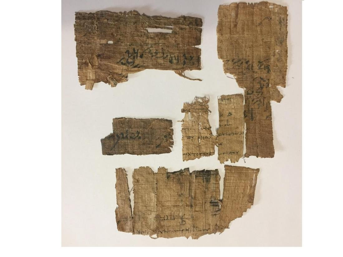 ANCIENT EGYPTIAN PAPYRUS FRAGMENTS