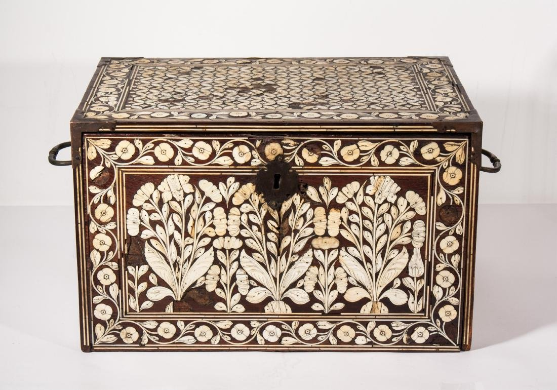 ISLAMIC MUGHAL WOODEN CHEST NORTH-WEST INDIA, 17TH