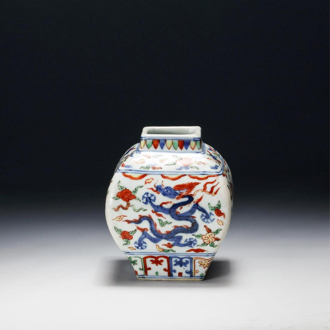 CHINESE BLUE AND WHITE WUCAI PORCELAIN VASE, QING