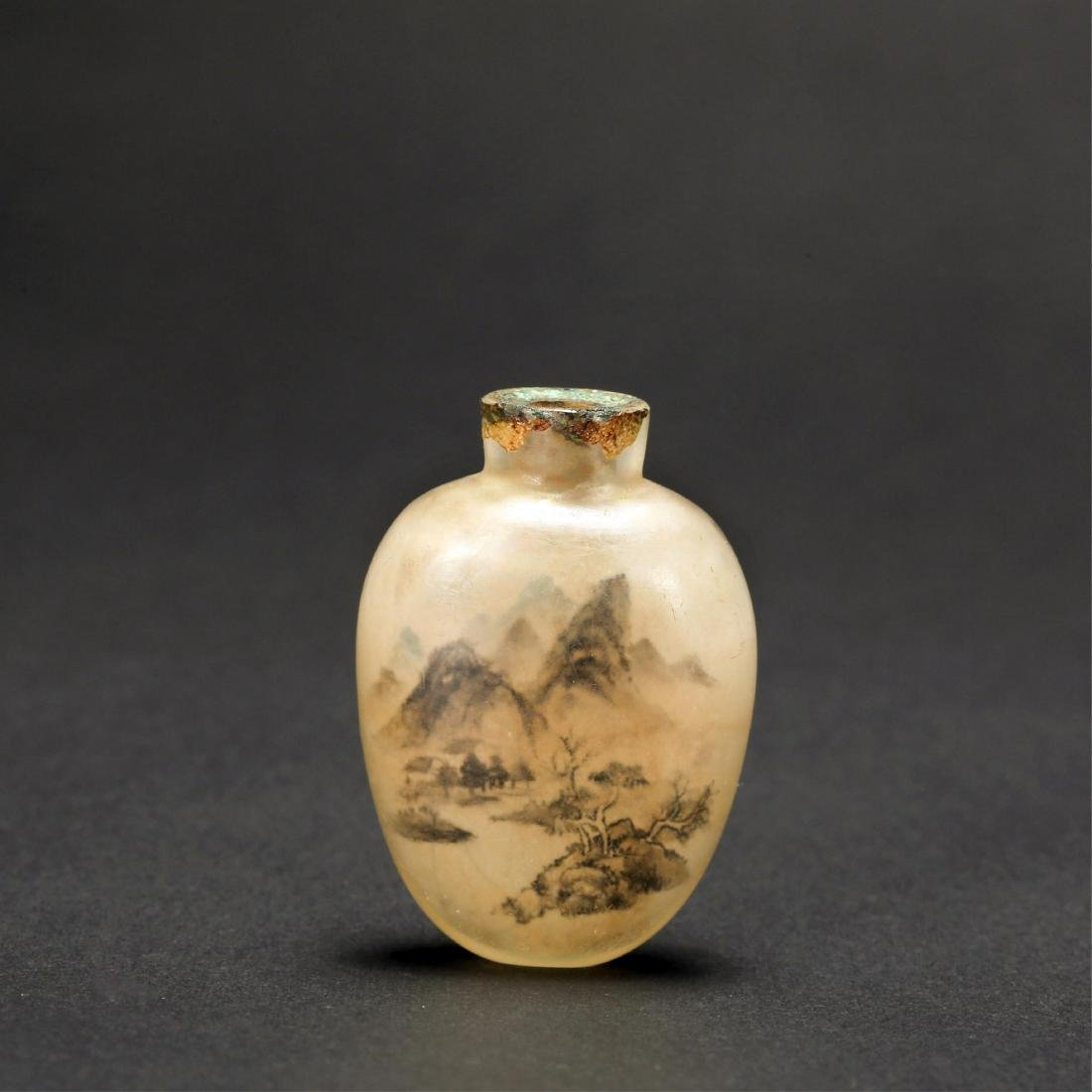 CHINESE AGATE SNUFF BOTTLE, QING DYNASTY