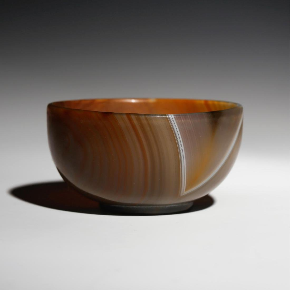 CHINESE AGATE BOWL, QING DYNASTY