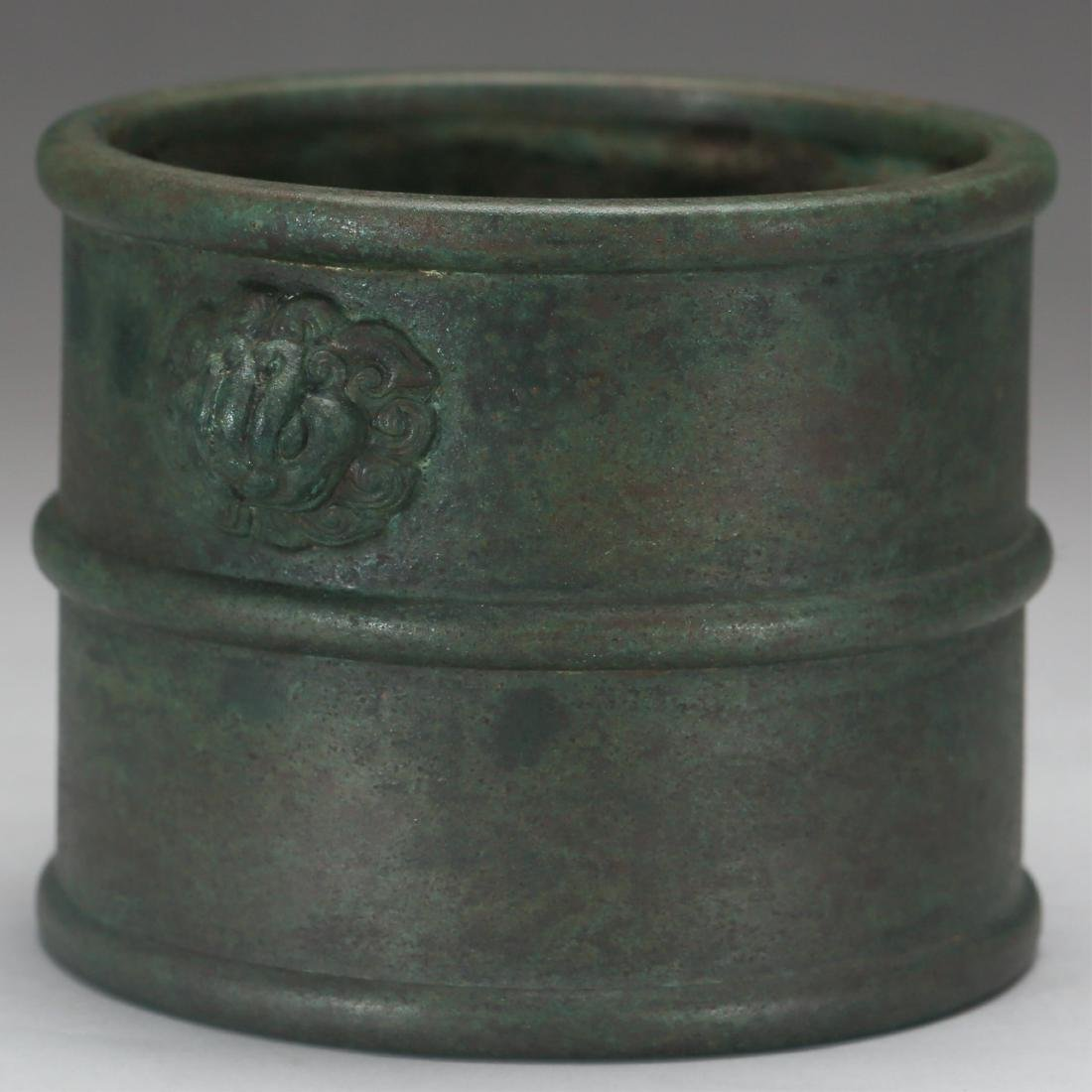 CHINESE BRONZE CENSER, MING DYNASTY - 2