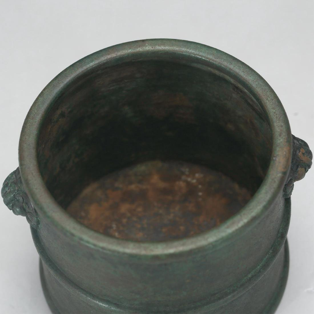 CHINESE BRONZE CENSER, MING DYNASTY - 3