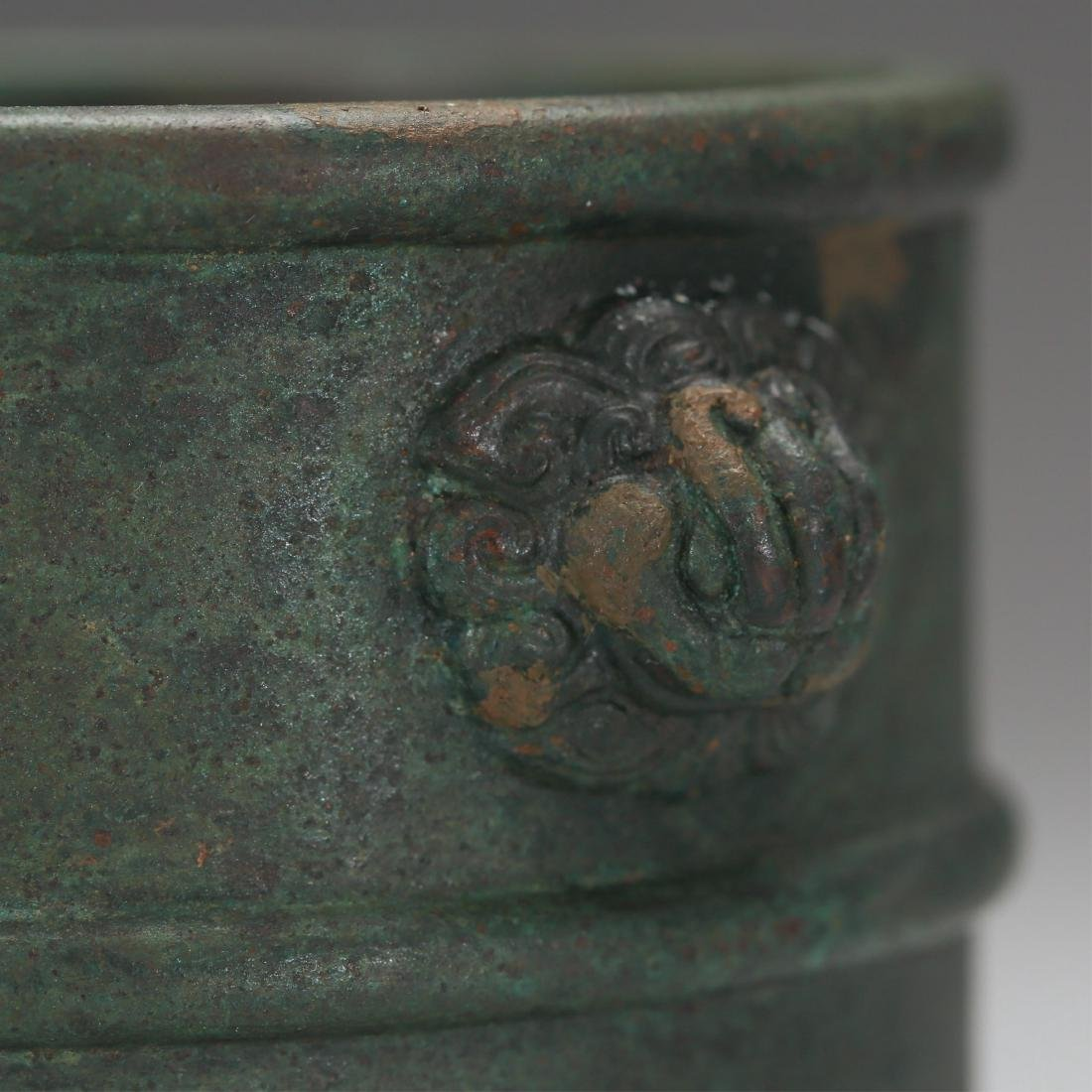 CHINESE BRONZE CENSER, MING DYNASTY - 5