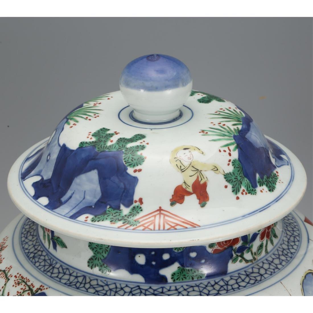 CHINESE WUCAI PORCELAIN GINGER JAR - 6