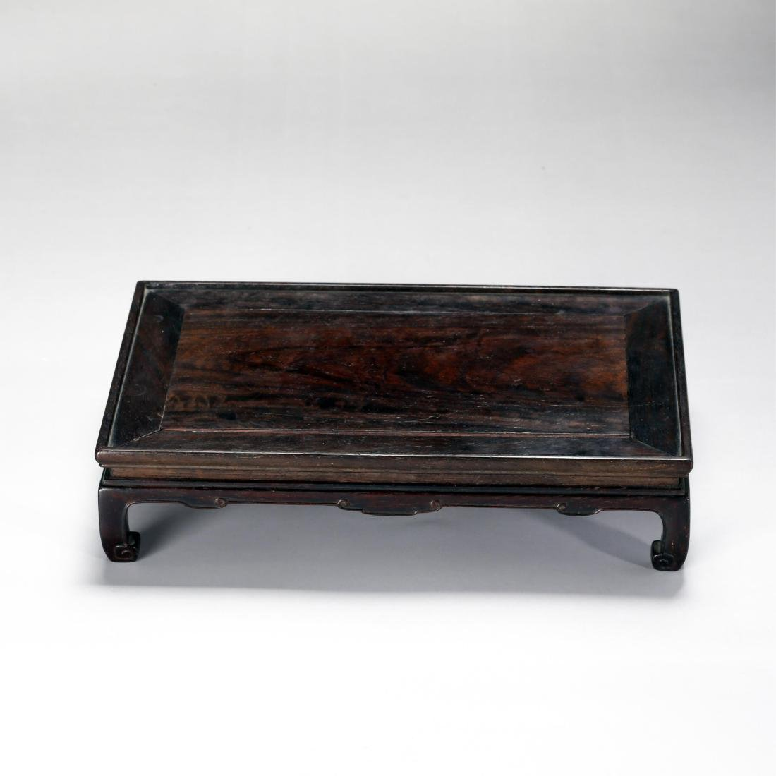 CHINESE ROSEWOOD TEA TABLE