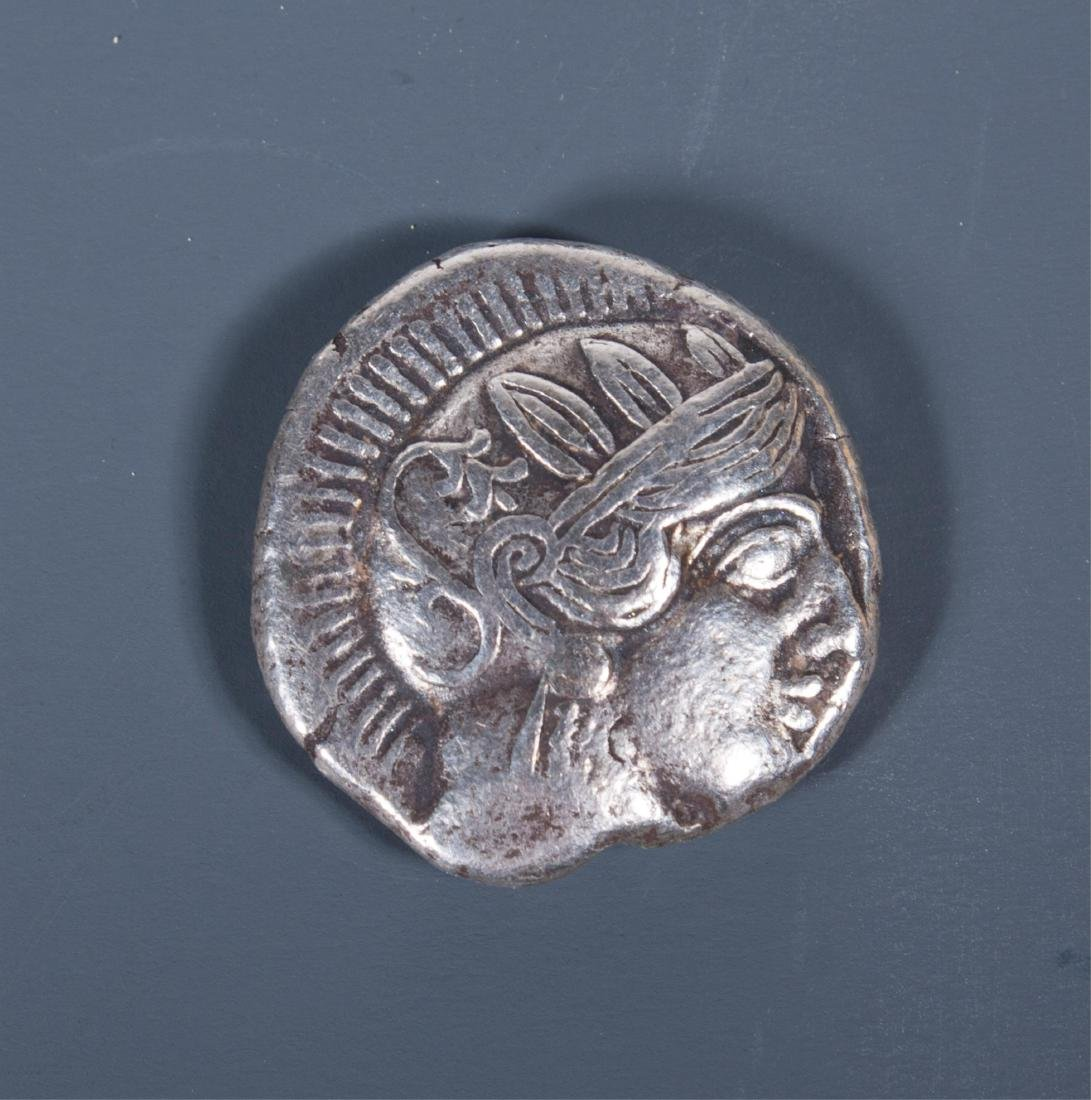 ANCIENT GREEK SILVER COIN ATHENS OWL