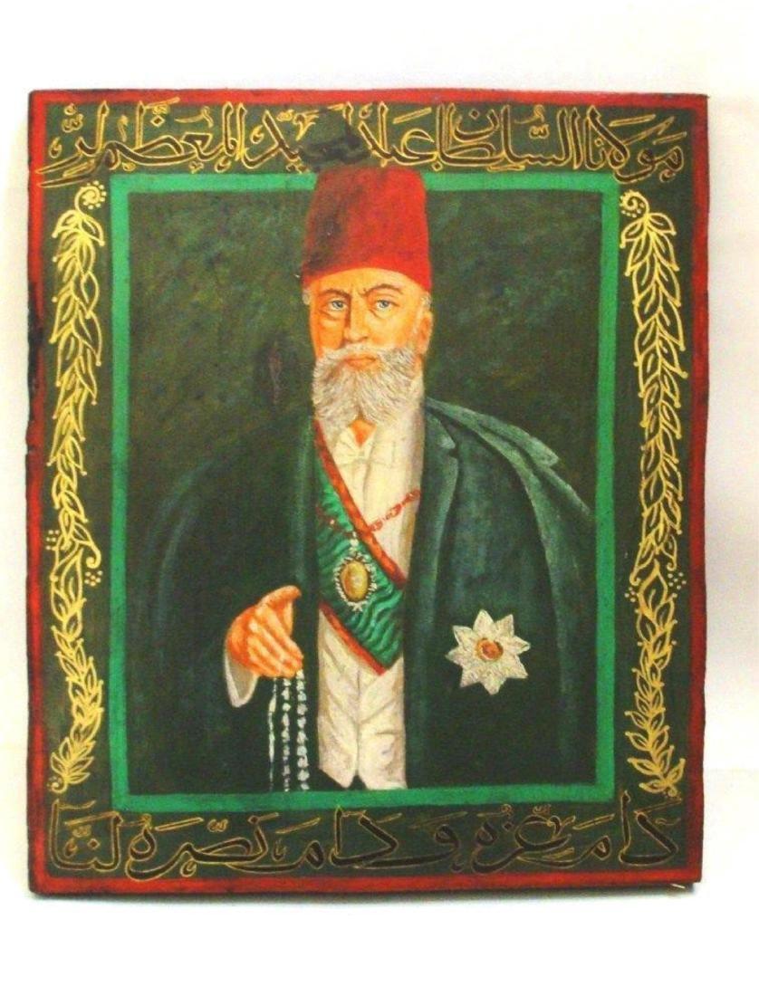 ISLAMIC OTTOMAN OLD PAINTING ON WOOD ,19 CENTURY