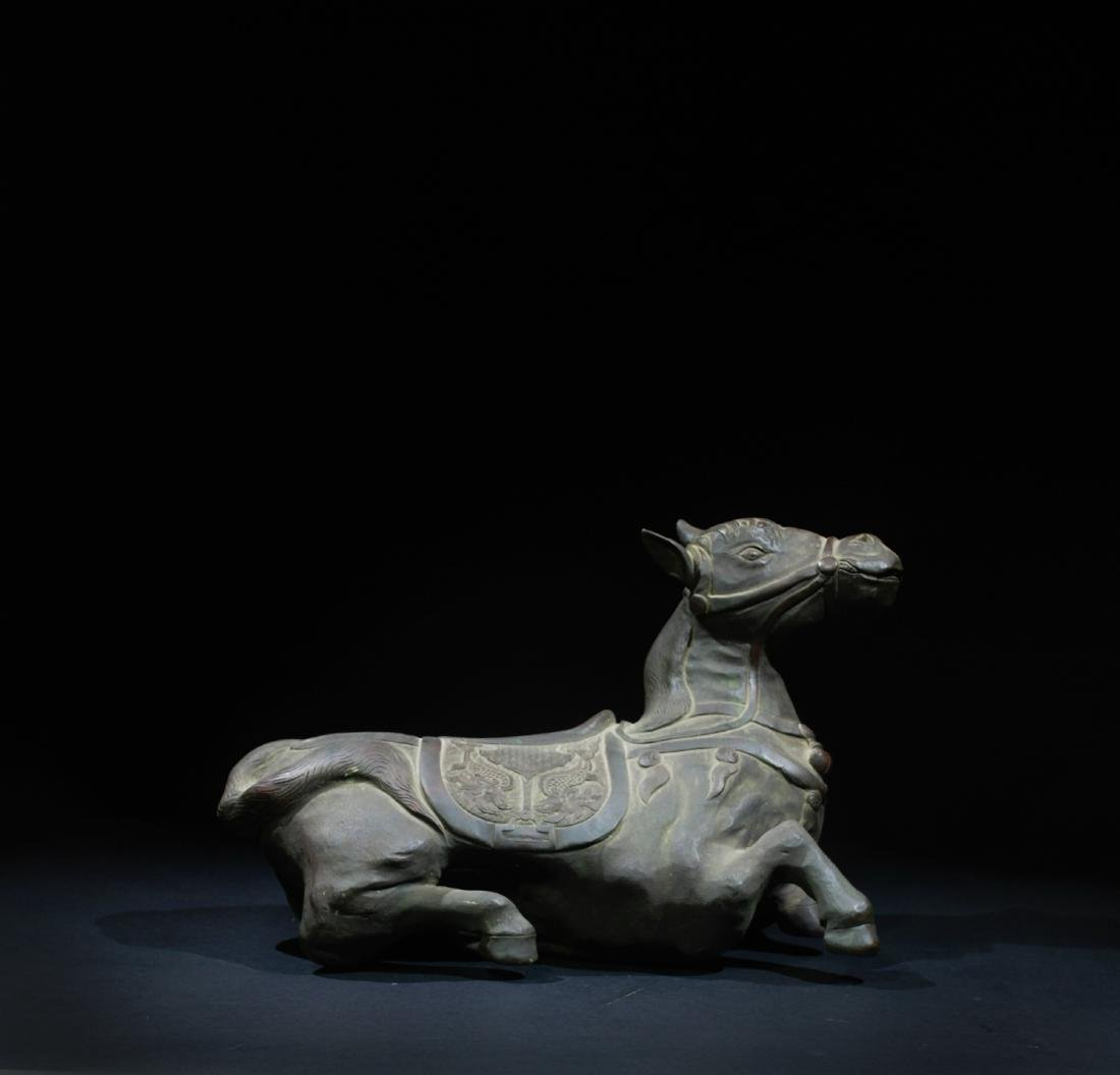 CHINESE BRONZE FIGURE OF HORSE
